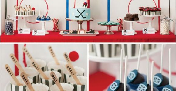 Hockey Birthday Decorations Hockey Party On Pinterest Hockey Birthday Hockey
