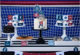 Hockey Birthday Decorations Kara 39 S Party Ideas Hockey themed Birthday Party