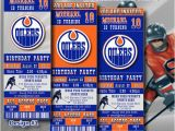 Hockey Ticket Birthday Invitations Edmonton Oilers Birthday Invitation Hockey Ticket by Digisport