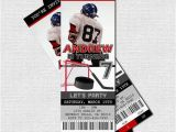 Hockey Ticket Birthday Invitations Hockey Ticket Invitations Free Thank You Card Birthday