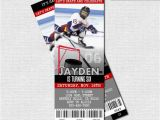 Hockey Ticket Birthday Invitations Hockey Ticket Invitations Skate Birthday Party Print by