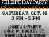 Hockey Ticket Birthday Invitations Nhl Hockey Birthday Invitations Kustom Kreations