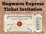 Hogwarts Birthday Invitation Template Custom Printable Hogwarts Express Ticket Invitation