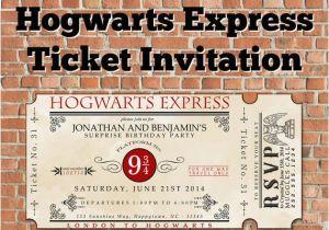 Hogwarts Birthday Invitation Template Custom Printable Hogwarts Express Ticket Invitation