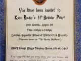 Hogwarts Birthday Invitation Template Harry Potter Birthday Invitations Cimvitation