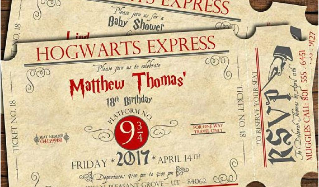 photograph regarding Hogwarts Express Ticket Printable referred to as Hogwarts Birthday Invitation Template Harry Potter Birthday