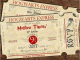 Hogwarts Birthday Invitation Template Harry Potter Birthday Train Ticket Invitation Harry Potter