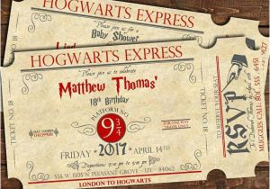 Hogwarts Birthday Invitation Template Harry Potter Train Ticket