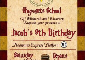 Hogwarts Birthday Invitation Template Harry Potter Gryffindor Birthday Invitation Invitacion De