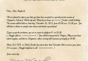 Hogwarts Birthday Invitation Template Hogwarts Invitation Letter Letters Free Sample Letters