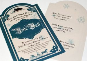Hogwarts Birthday Invitation Template Yule Ball Invitation for Hogwarts On Christmas Day