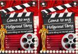 Hollywood themed Birthday Party Invitations Hollywood Party Ideas Goodtoknow