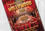 Hollywood themed Birthday Party Invitations Hollywood Party Invitations Hollywood Invitation Hollywood