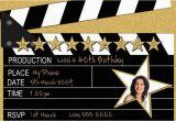 Hollywood themed Birthday Party Invitations Hollywood Party Invitations Wording Ideas Home Party