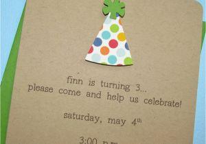 Homemade 1st Birthday Invitations Homemade 1st Birthday Invitations Best Party Ideas