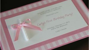 Homemade 1st Birthday Invitations Homemade Birthday Invitations Ideas
