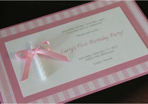 Homemade 1st Birthday Invitations Ideas