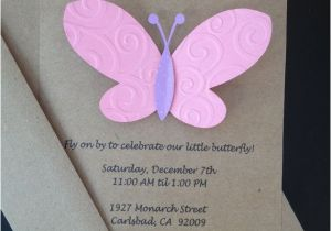 Homemade Birthday Invitations Templates Diy Butterfly Lijicinu Bdf363f9eba6