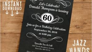 Homemade Birthday Invitations Templates Vintage Adult Birthday Invitation Template Diy Printable