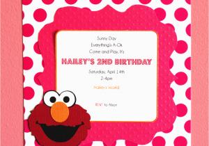 Homemade Elmo Birthday Invitations Diy Www Imgkid Com The Image