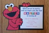 Homemade Elmo Birthday Invitations Elmo Birthday Invitation Homemade Diecut Cardstock Sesame
