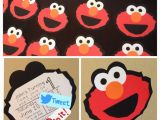 Homemade Elmo Birthday Invitations Homemade Diy Elmo Birthday Invitations Silhouette Cameo I