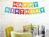 Homemade Happy Birthday Banner Ideas Instant Download Happy Birthday Banner Rainbow Birthday