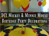 Homemade Mickey Mouse Birthday Decorations Diy Mickey Mouse and Minnie Mouse Party Decorations