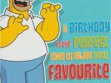 Homer Simpson Birthday Cards Happy Birthday Dad Homer Simpson Card Ebay