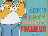 Homer Simpson Birthday Cards Xpress Yourself for My Husband 50 Celebrate In Style