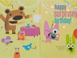 Hoops and Yoyo Birthday Cards with sound Hoops Yoyo Surprise Party Birthday sound Card with Light