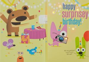 Hoops And Yoyo Birthday Cards With Sound Surprise Party Card Light