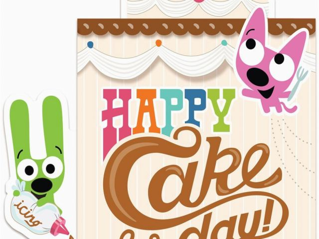 Hoops And Yoyo Birthday Cards With Sound Pop Up Cake