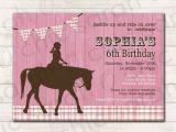 Horse Birthday Cards Free Birthday Invitations Free Printable Horse Birthday