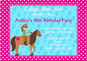 Horse Birthday Cards Free Printable 4 Fancy Free Printable Horse Birthday Party Invitations