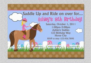 Horse Birthday Cards Free Printable Birthday Invitations Free Printable Horse Birthday
