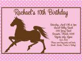 Horse Birthday Cards Free Printable Free Printable Horse Birthday Party Invitations