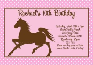 Horse Birthday Cards Free Printable Free Printable Horse Birthday Party Invitations