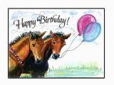 Horse Birthday Cards Free Printable Happy Birthday Horse Card