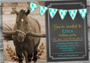 Horse Birthday Cards Free Printable Horse Equestrian Birthday Invitation Card Chalkboard Boys