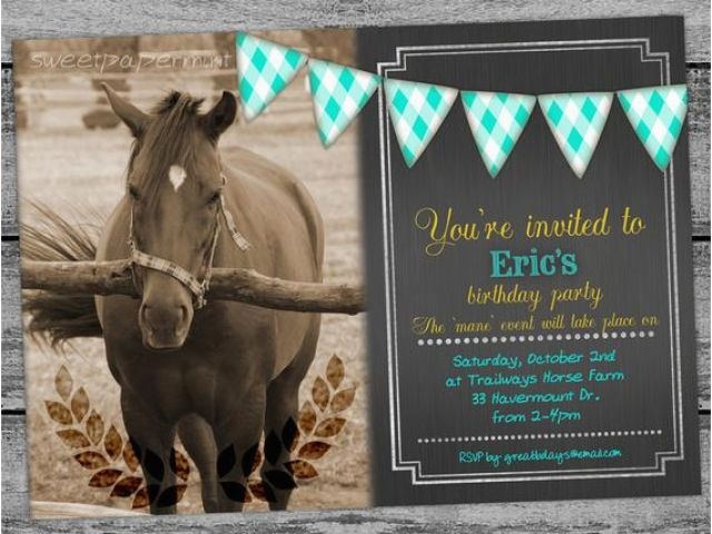 Horse Birthday Cards Free Printable Equestrian