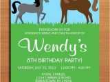 Horse Birthday Cards Free Printable Horse Pony Birthday Party Invitation Cards Printable Diy