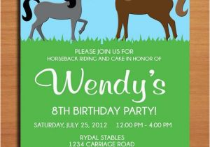 Horse Birthday Cards Free Printable Horse Pony Birthday Party Invitation Cards Printable Diy