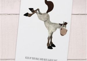 Horse Birthday Cards Free Printable Items Similar to Funny Horse Printable Birthday Card