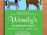 Horse Birthday Invites Horse Pony Birthday Party Invitation Cards Printable Diy