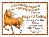 Horse Birthday Invites Personalized Birthday Invitations Horse Western Wild West