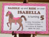 Horse Birthday Invites Pony Birthday Invitations Horse Birthday by Bcpaperdesigns