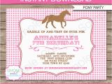 Horse Birthday Invites Pony Party Invitations Horse Party Birthday Party