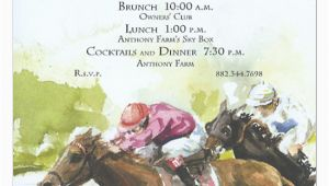 Horse Racing Birthday Invitations 1st and 2nd Horse Race Invitation