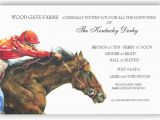 Horse Racing Birthday Invitations Horse Power Invitation Custom Printed Invitations for